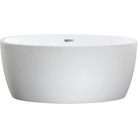 "Jolie 55"" x 32"" Freestanding Soaking Acrylic Bathtub"