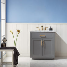 "Load image into Gallery viewer, Ivy 30"" Single Bathroom Vanity Set in Grey without Mirror"