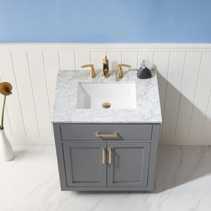 "Ivy 30"" Single Bathroom Vanity Set in Grey without Mirror"