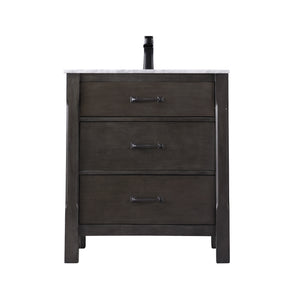 "Maribella 30"" Single Bathroom Vanity Set in Rust Black Without Mirror"