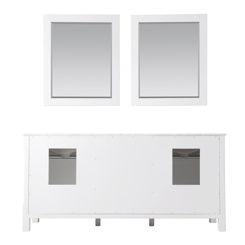"Image of Maribella 72"" Double Bathroom Vanity Set in White  With Mirror"