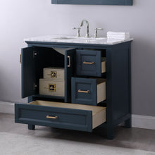 "Load image into Gallery viewer, Isla 36"" Single Bathroom Vanity Set in Classic Blue with Mirror"