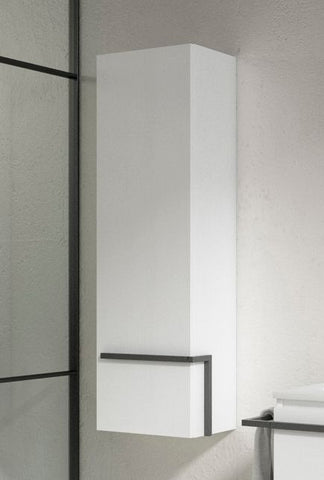 White Scala Tall Storage/ Cabinet  With Left Side Door