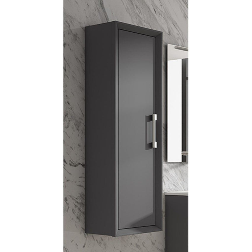 Lucena Bath Grey Décor Tirador Tall  Cabinet/ Storage