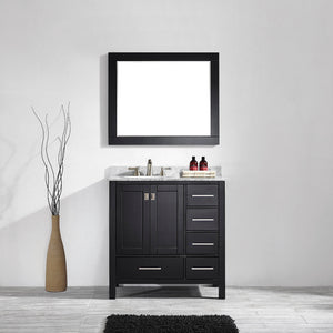 Aberdeen 36 Inches Espresso Transitional Bathroom Vanity  Single Sink