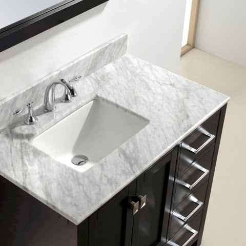 Image of Aberdeen 36 Inches Espresso Transitional Bathroom Vanity  Single Sink