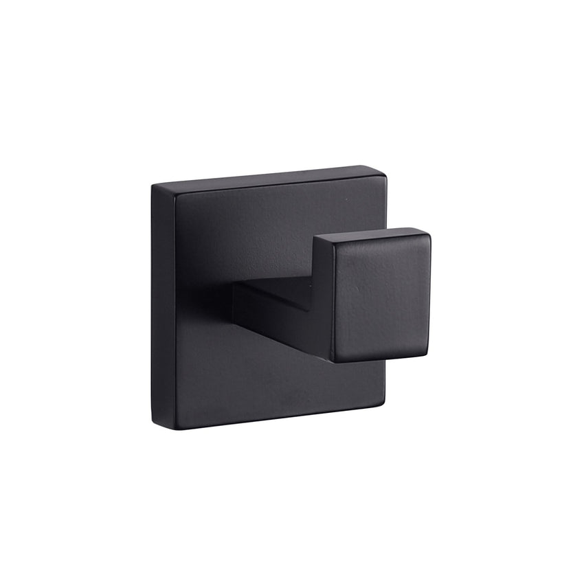 Bathroom Accessories - Bagno Lucido Stainless Steel Robe Hook - Matte Black