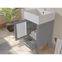 "Load image into Gallery viewer, Bathroom Vanities - 18"" Complete Bathroom Vanity Set With Polished Chrome Plumbing"