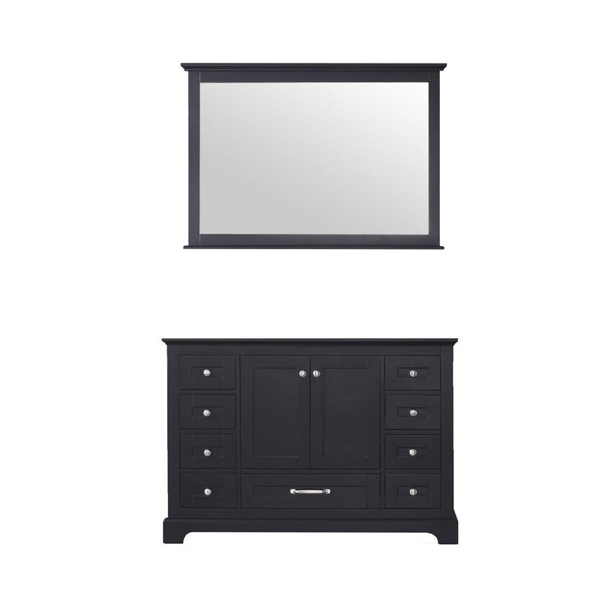 "Bathroom Vanities - 48"" Espresso Single Bathroom Vanity, No Top And 46"" Mirror"
