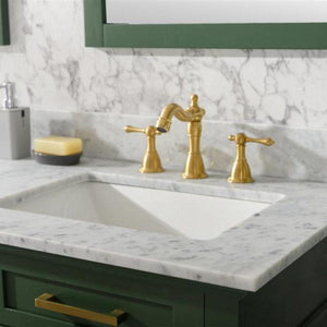 Bathroom Vanities - 60-Inch Vogue Green Double Vanity Set With Carrara White Top- Faucet And Mirrors Not Included