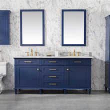 Load image into Gallery viewer, Bathroom Vanities - 72- Inches Double Vanity Set With Carrara White Top, Faucet And Mirror Not Included