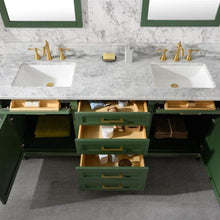 Load image into Gallery viewer, Bathroom Vanities - 72-Inches  Vogue Green Double Vanity Set - Mirror And Faucet Not Included