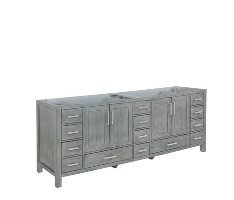 "Image of Bathroom Vanities - 84"" Distressed Grey Vanity Cabinet Only"
