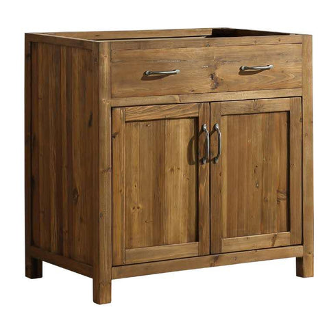 "Bathroom Vanities - Bryson 36"" Vanity Base Only In Walnut"