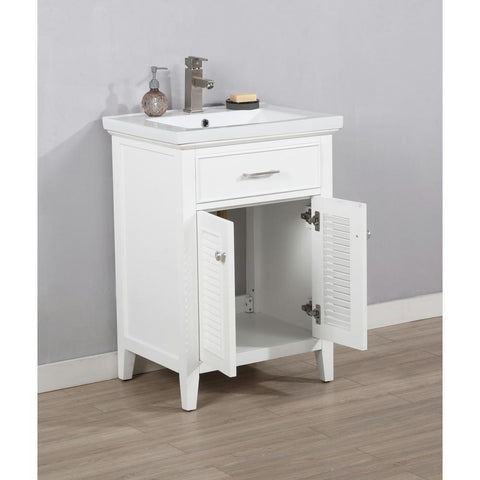 "Image of Bathroom Vanities - Cameron 30"" Single Sink Bathroom Vanity In White"
