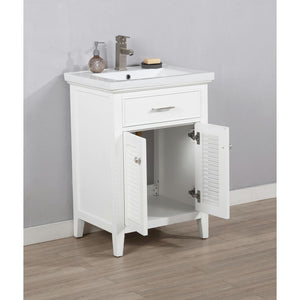 "Bathroom Vanities - Cameron 30"" Single Sink Bathroom Vanity In White"