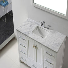 Load image into Gallery viewer, Bathroom Vanities - Eviva Aberdeen 48 Inch White Transitional Bathroom Vanity With White Carrara Marble Countertop And Undermount Porcelain Sink