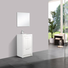 Load image into Gallery viewer, Bathroom Vanities - Eviva Grace 24 Inch Glossy White Bathroom Vanity With White Integrated Acrylic Top