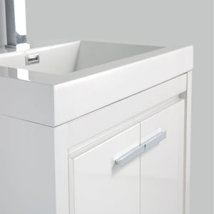 Bathroom Vanities - Eviva Grace 24 Inch Glossy White Bathroom Vanity With White Integrated Acrylic Top