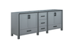 "Bathroom Vanities - Lexora LZV352284SB00000 84"" Dark Grey Vanity Cabinet Only"
