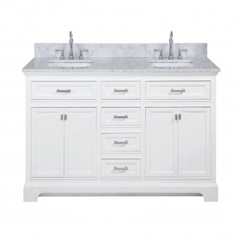 "Image of Bathroom Vanities - Milano 72"" Double Sink Bathroom Vanity In White"