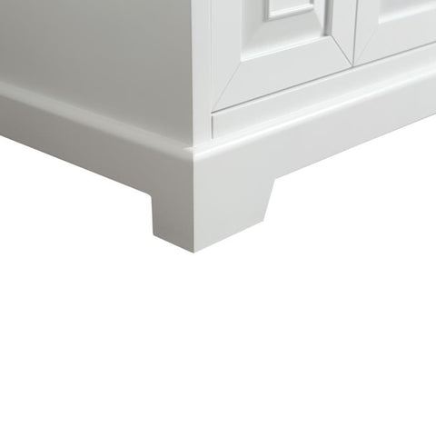 Image of Bathroom Vanities - Monroe 60-inch White Transitional Double Sink Bathroom Vanity With White Carrara Countertop And Undermount Porcelain Sinks