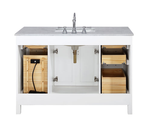 "Image of Bathroom Vanities - Valentino 48"" Single Sink Bathroom Vanity In White"