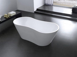 Bathtub - Kube Onde 67'' White Free Standing Bathtub