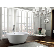 Load image into Gallery viewer, Bathtub - Udine 67 Inch Freestanding Bathtub In Glossy White