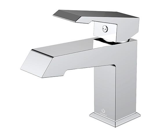 Faucets - Labaro Brass Single Hole Bathroom Faucet - Chrome