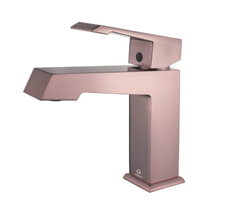 Faucets - Labaro Brass Single Hole Bathroom Faucet - Rose Gold