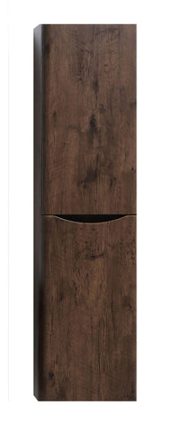 Linen Side Cabinet - Smile 16-inch Rosewood Wall Mount Linen Side Cabinet