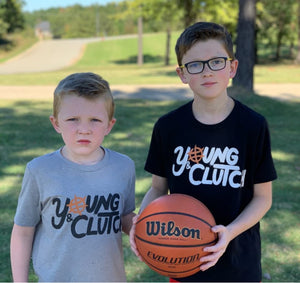 Brothers wearing Young & Clutch Classic Basketball