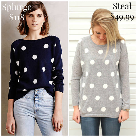 Polka Dot Perfection Sweater from ShopbellaC