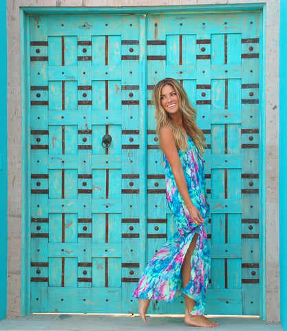 Teal Jewel of the Nile Maxi Dress from ShopbellaC