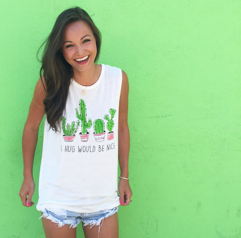 Cactus Hugs Tank Top from Your Online Clothing Boutique