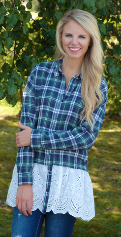 Free Spirit Plaid Top from ShopbellaC