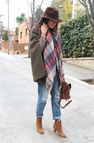 Plaid Blanket Scarf from ShopbellaC