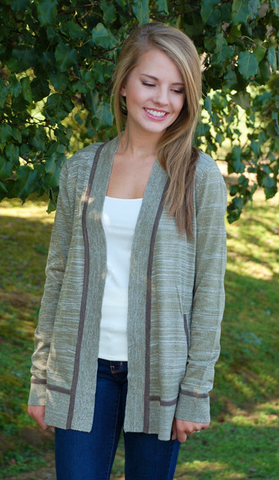 Crete de la Olive Cardigan from ShopbellaC