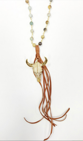Haut Gypsy Bull and Tassel Necklace