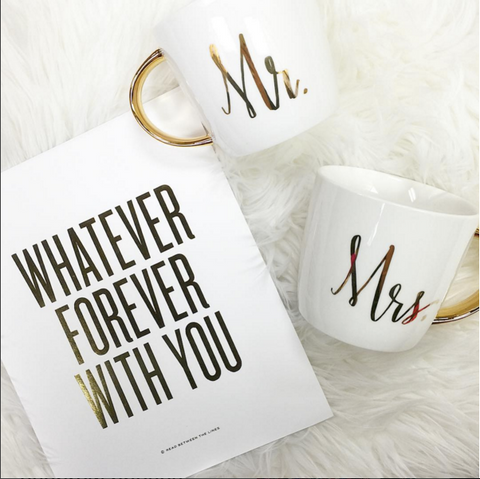 Mr. and Mrs. Mug Set from ShopbellaC