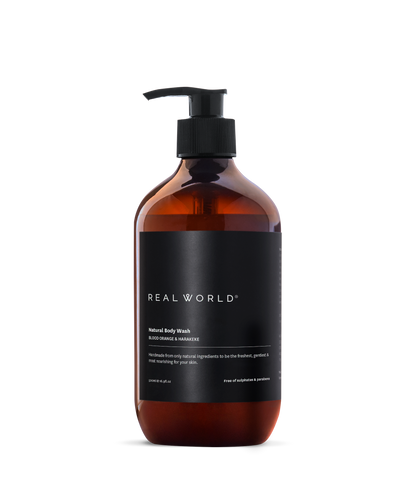 Real World Body Wash - Blood Orange & Harakeke 500ml