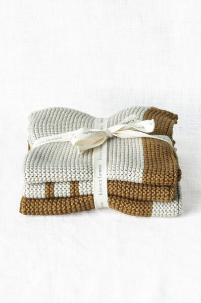 Bianca Lorenne Washcloth Pannello Bronze, Set of 3