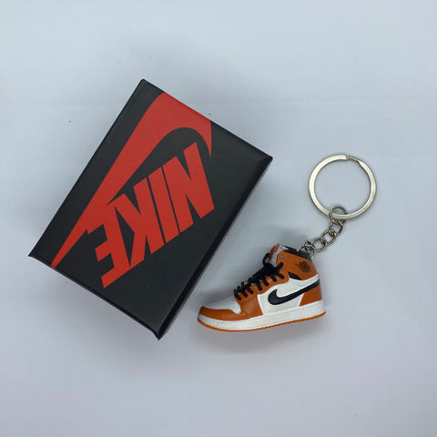 Orange And White Keychain