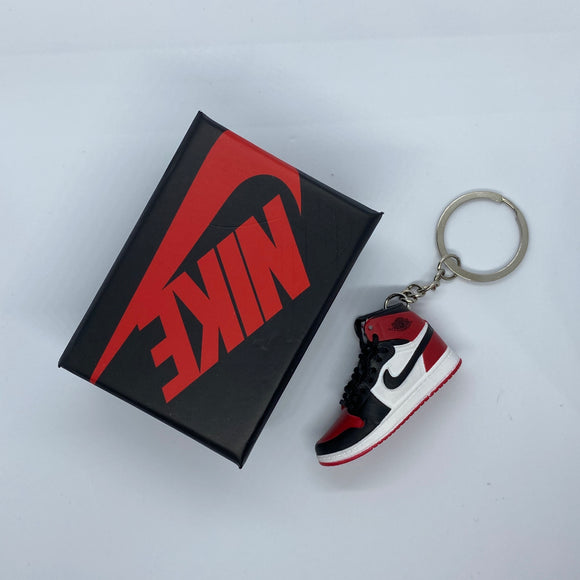 Red, White And Black Keychain