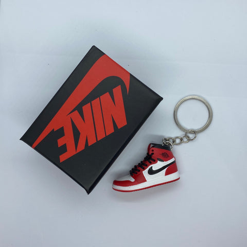 Red And White Keychain