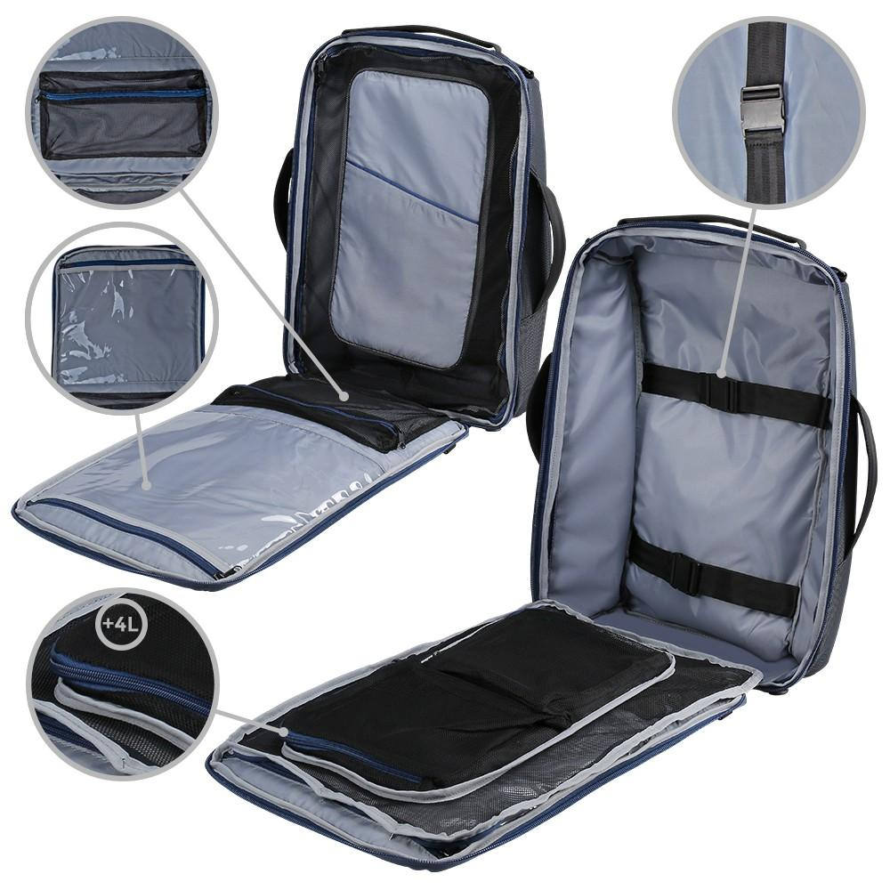 Tokyo Laptop Cabin Backpack & Shoulder Bag - Cabin Max