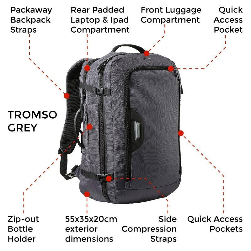 Tromso 55x35x20cm Flight Backpack - Cabin Max