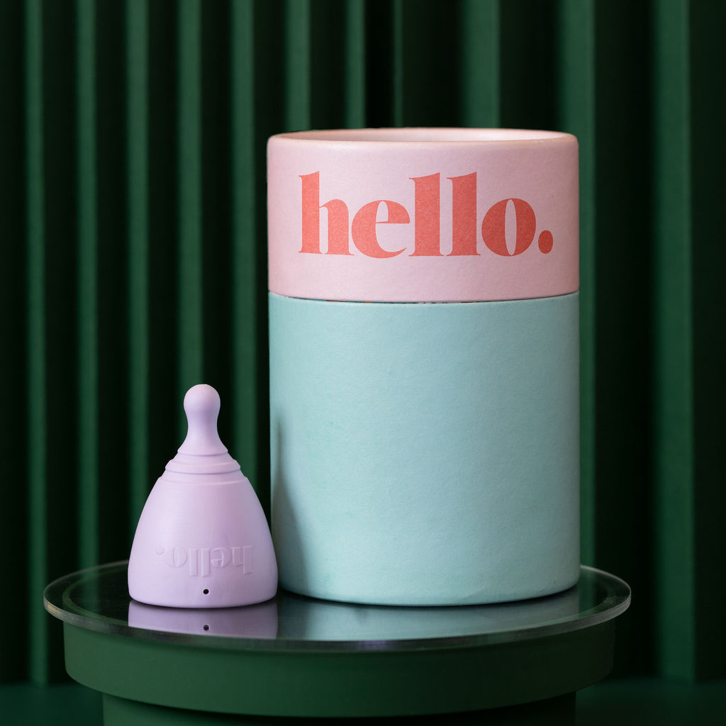 Hello Cup Low Cervix menstrual cup teen size XS lilac