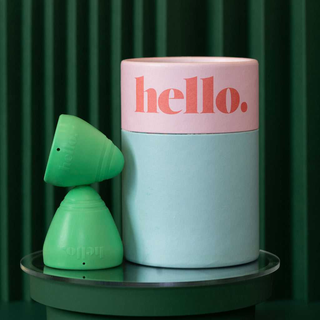 Hello Cup Low Cervix menstrual cup double pack